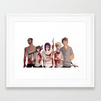 kuroko Framed Art Prints featuring Uncrowned Murder Club by Vicky Newberry