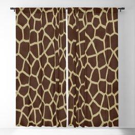 primitive safari animal brown and tan giraffe spots Blackout Curtain