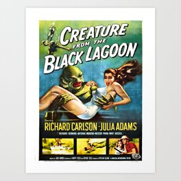Vintage poster - Creature from the Black Lagoon Art Print
