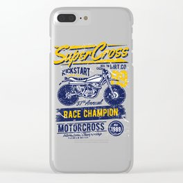 Super Cross Kick Start Community Clear iPhone Case