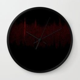 i live in my car Wall Clock