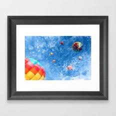 Acrylic Air Balloons Framed Art Print