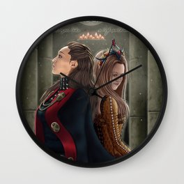 Clexa Medieval AU Wall Clock