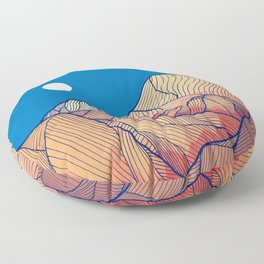 Lines in the mountains Floor Pillow