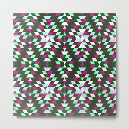 Native Diamond Triangle Pattern Metal Print