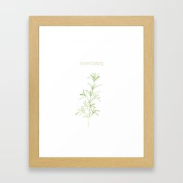 rosemary watercolor Framed Art Print
