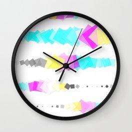 Printer Squares Wall Clock