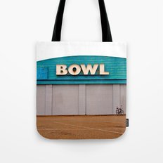 Classic bowling architecture Tote Bag