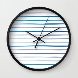Irregular Stripes (Blue) Wall Clock