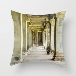 Angkor Wat Leading Lines II, Cambodia Throw Pillow