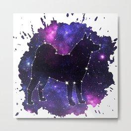 Dog constellation Metal Print