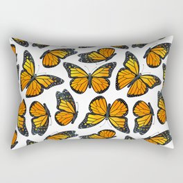 Monarch Butterfly Pattern Rectangular Pillow