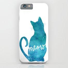 Watercolour Cat Silhouette iPhone Case