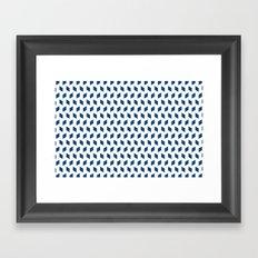 rhombus bomb in monaco blue Framed Art Print