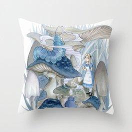 Alice in Wonderland - The Caterpillar Throw Pillow
