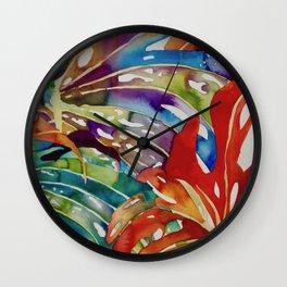 Hawaiian Leaves Wall Clock
