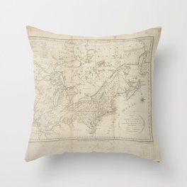 A map of the northern and middle states, comprehending the western territory and the British dominions in North America. From the best authorities Throw Pillow