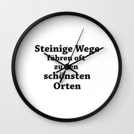 Stony Paths Wall Clock
