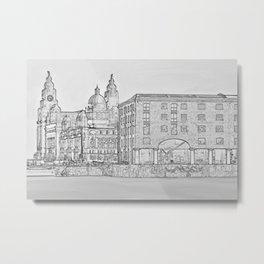 Royal Albert Dock, Liverpool (Digital Art) Metal Print