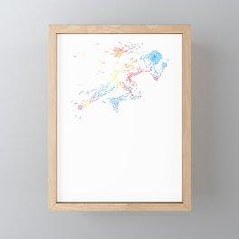 Sprinter track and field sprint runner  sport Framed Mini Art Print