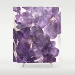 Purple Blossoming Shower Curtain
