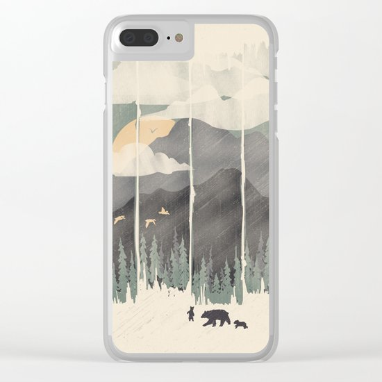 Spring Mountain Weather Clear iPhone Case
