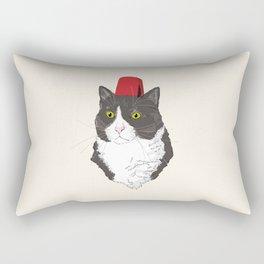 Fez Hat Cat Rectangular Pillow
