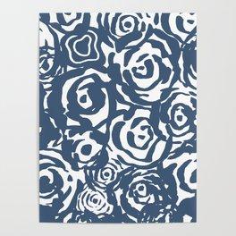 Navy Flower Bundle Poster