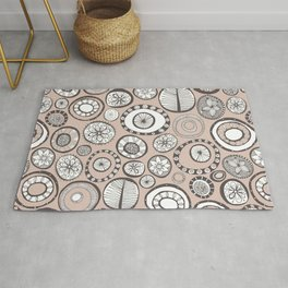 Honolulu hoops clay Rug