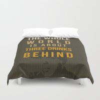 actor Duvet Covers featuring movie actor quote by Larsson Stevensem