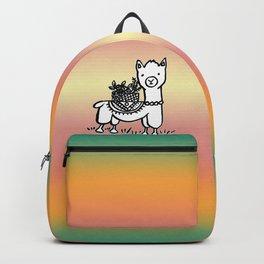 Hand  drawn llamas Backpack