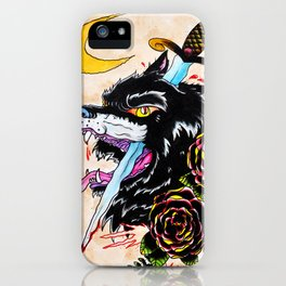 The Wolf and Dagger iPhone Case