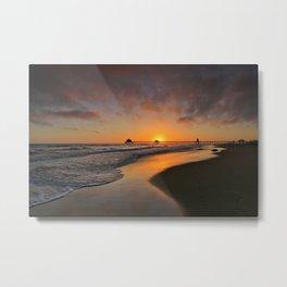 Surf City Sunset  8/18/14 Metal Print