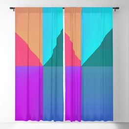 Gradient background Blackout Curtain