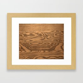 Wood 5, heavily grained wood Horizontal grain Framed Art Print