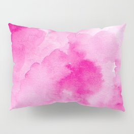Hand painted magenta pink modern watercolor Pillow Sham