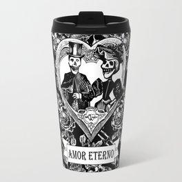 Amor Eterno | Eternal Love | Black and White Travel Mug