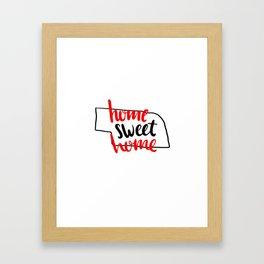 Home Sweet Home Nebraska Framed Art Print