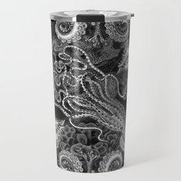 The Kraken (Black & White, Square, Alt) Travel Mug
