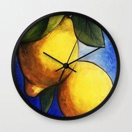 Sicilian Lemons Wall Clock