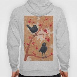 blackbirds in berry tree Hoody