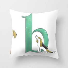 alphabet dogs Throw Pillow