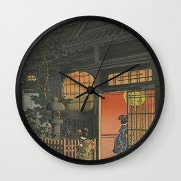 Night at Japan, Ukiyo-e Wall Clock