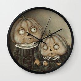 Rucus Studio Ghoul Kids Pumpkins Wall Clock