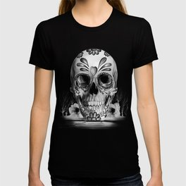 Pulled sugar, day of the dead skull T-shirt