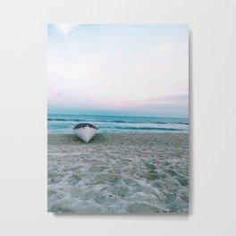 boat on beach Metal Print