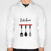 kitchen Hoodies featuring Kitchen by Sahar