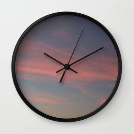 Soft Sunest Wall Clock