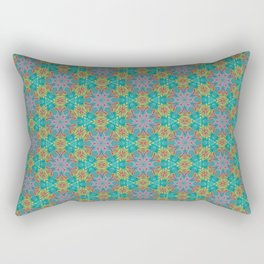 Geometric Flower Pattern 2 Rectangular Pillow