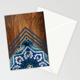 Wood + Moroccan Pattern Stationery Cards